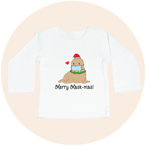 Merry Mask-mas! - Long Sleeve Toddler Tee