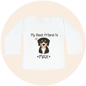 "Custom Pet Long Sleeve Toddler Tee - ""My Best Friend Is"""