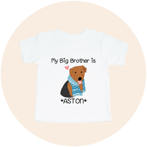 "Custom Pet Toddler Tee - ""My Big Brother Is"""