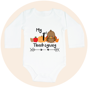 My First Thanksgiving (Option to Personalize) - Long Sleeve