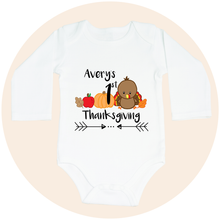 Load image into Gallery viewer, My First Thanksgiving (Option to Personalize) - Long Sleeve