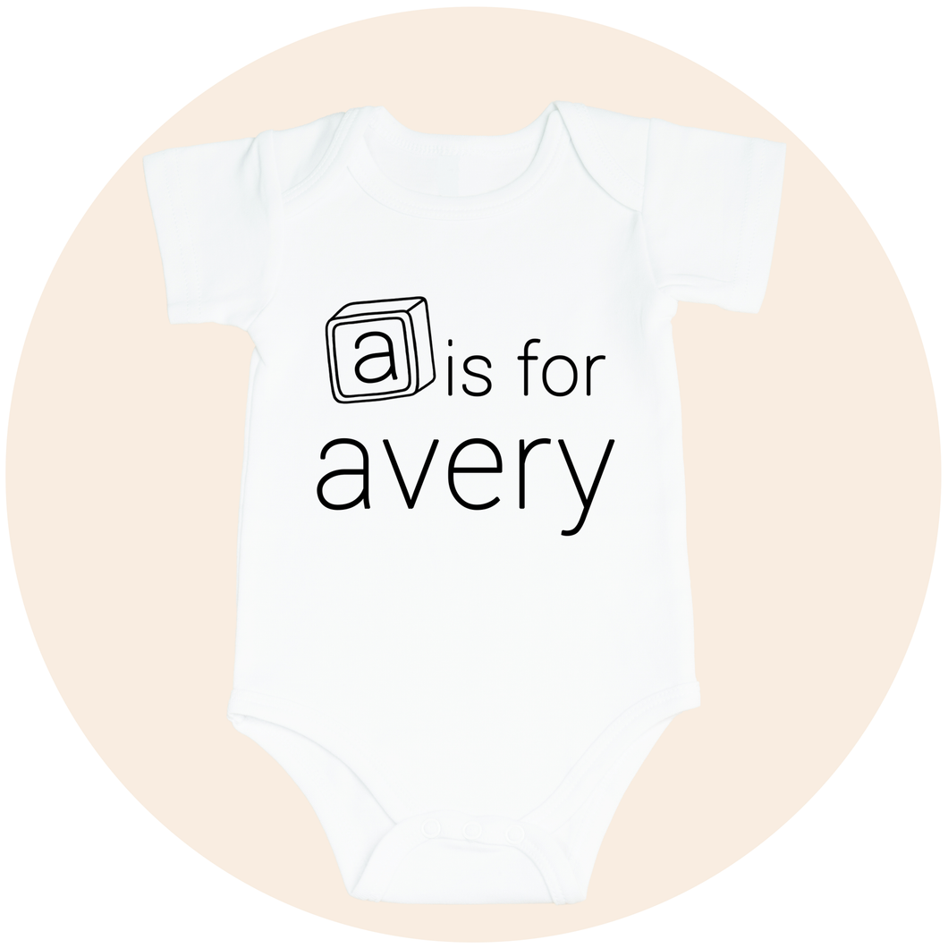 Personalized Baby's Name with Letter