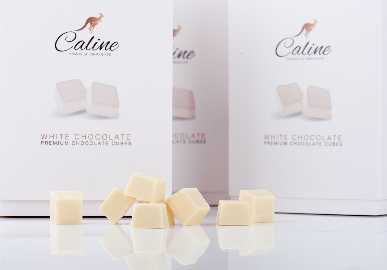 White Chocolate Cubes