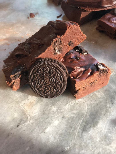 Vegan Oreo Fudge