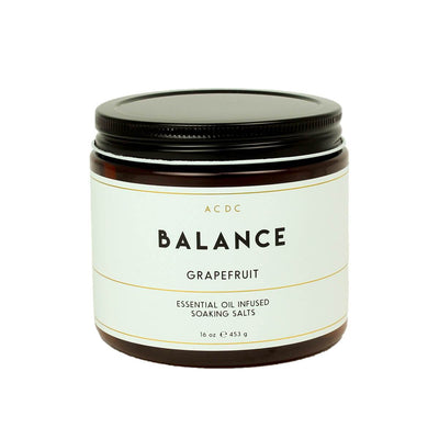 Balance Grapefruit Essential Oil Bath Soaking Salts - ACDC Co
