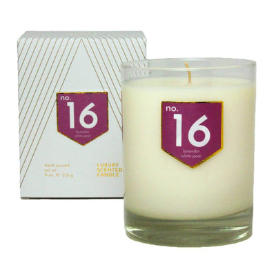 No. 16 Lavender White Pear Scented Soy Candle - A C D C
