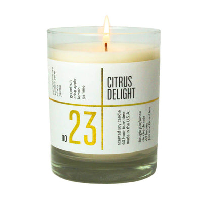 No. 23 Citrus Delight Scented Soy Jar Candle - A C D C