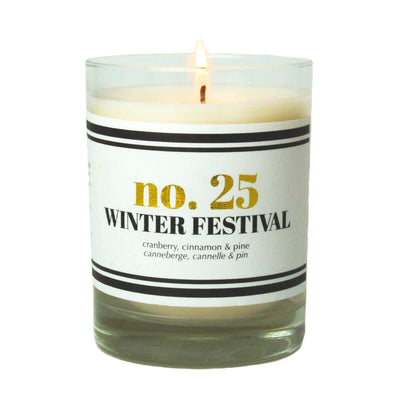 No. 25 Winter Festival Scented Soy Candle - A C D C