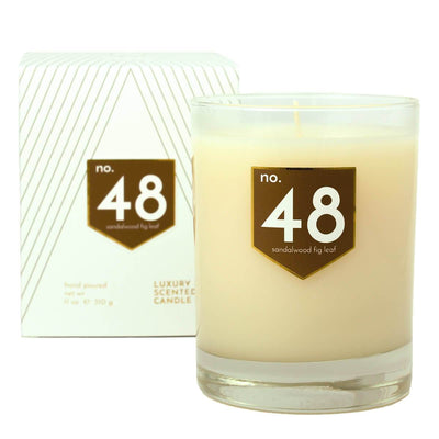 No. 48 Sandalwood Fig Leaf Scented Soy Candle - A C D C