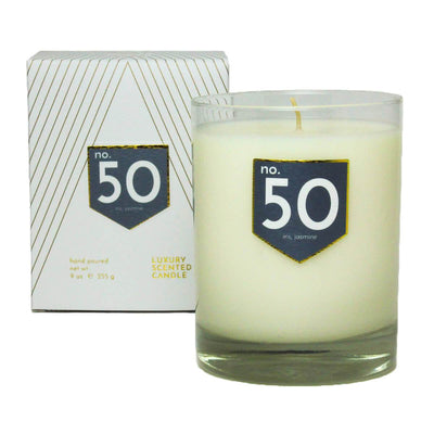 No. 50 Iris Jasmine Scented Soy Candle - A C D C