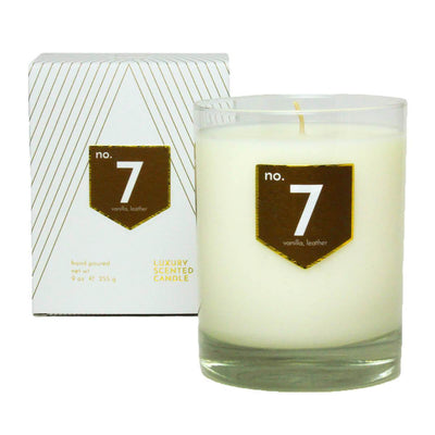 No. 7 Vanilla Leather Scented Soy Candle - A C D C