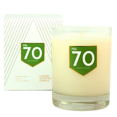No. 70 Basil Mint Scented Soy Candle - A C D C