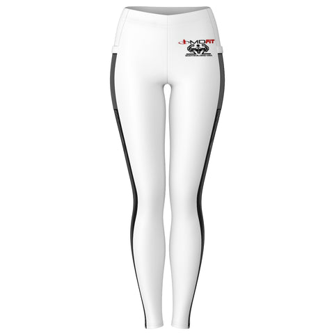 BB USA MDFIT Mesh Pocket Leggings (White)