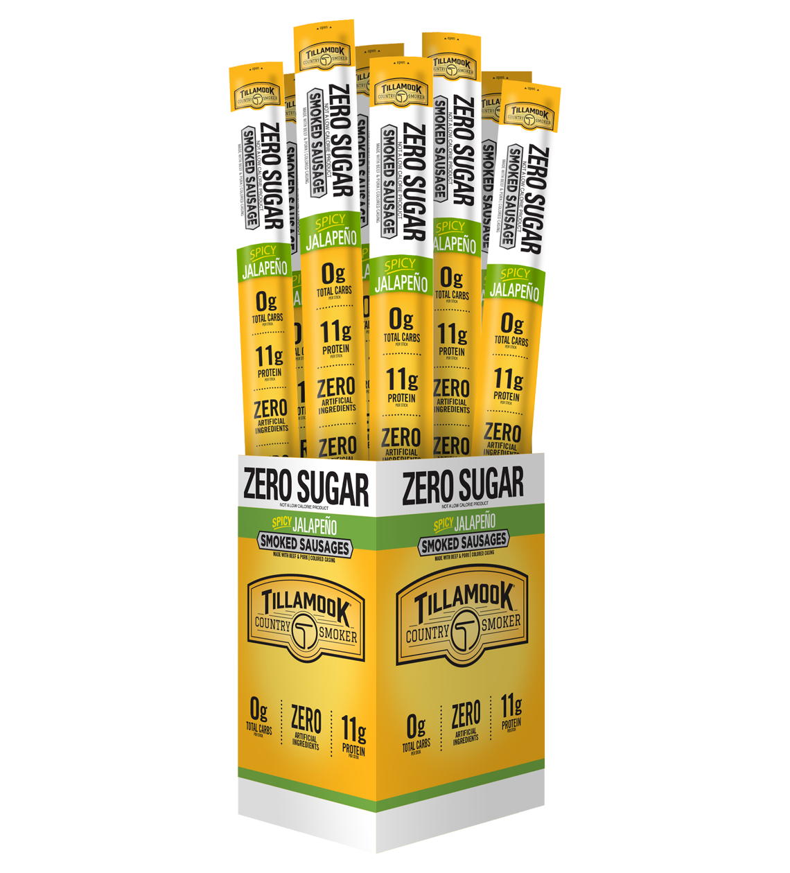 #126 Zero Sugar Spicy Jalapeno Meat Sticks