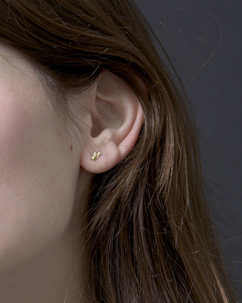 Little Gold Puddle Earrings | 14k Gold