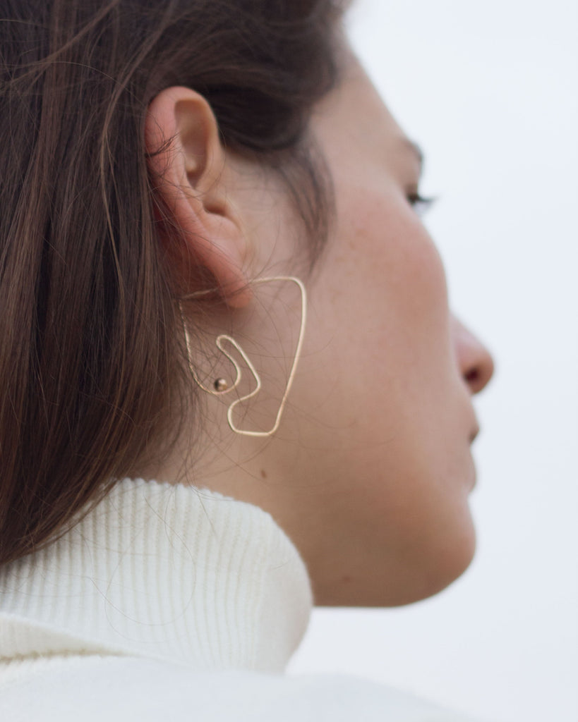 Deconstructed Nude Earring | Large
