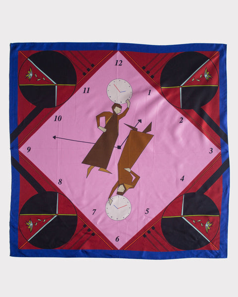 Girls & Clocks Silk Scarf