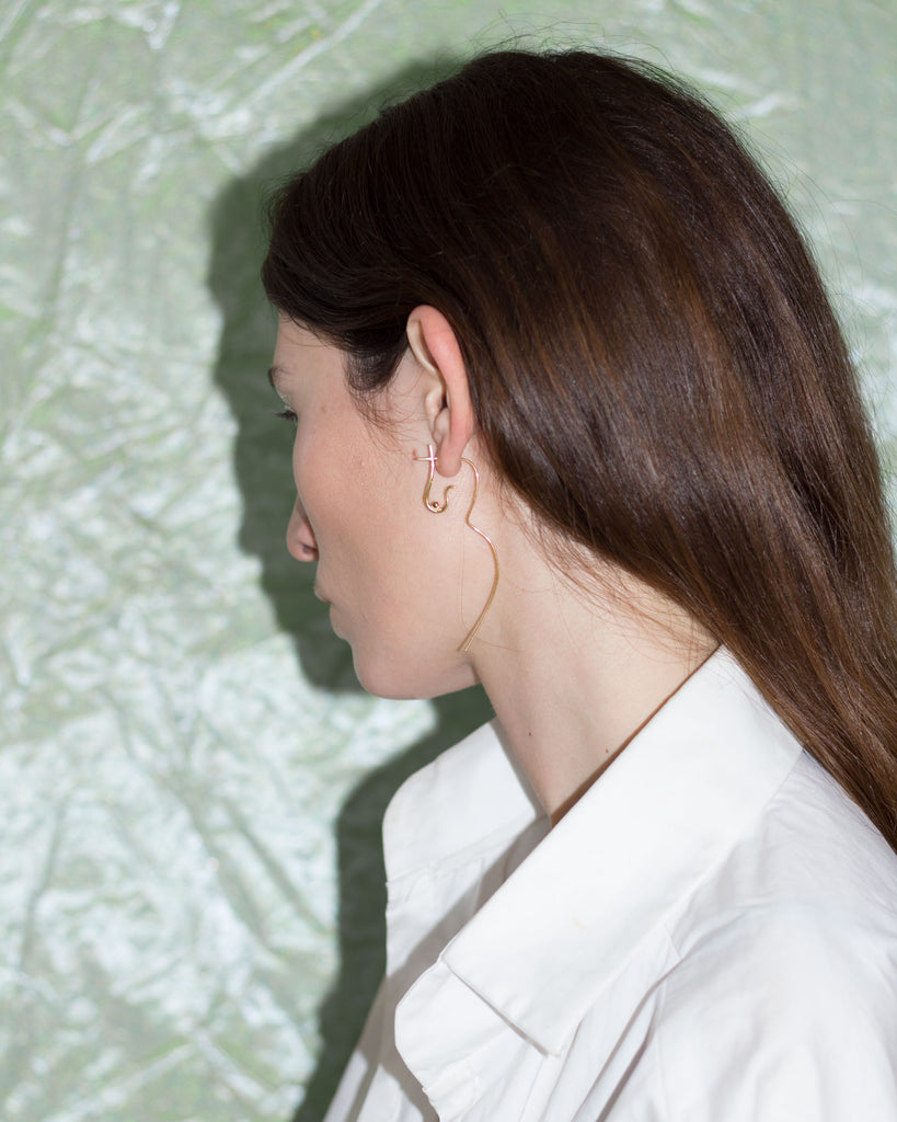 Flowing Nude Earring