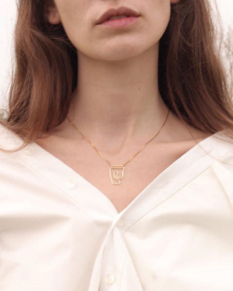Deconstructed Nude Necklace