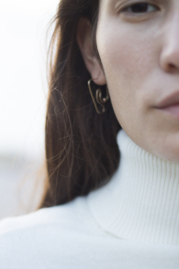 Deconstructed Nude Earring | Small
