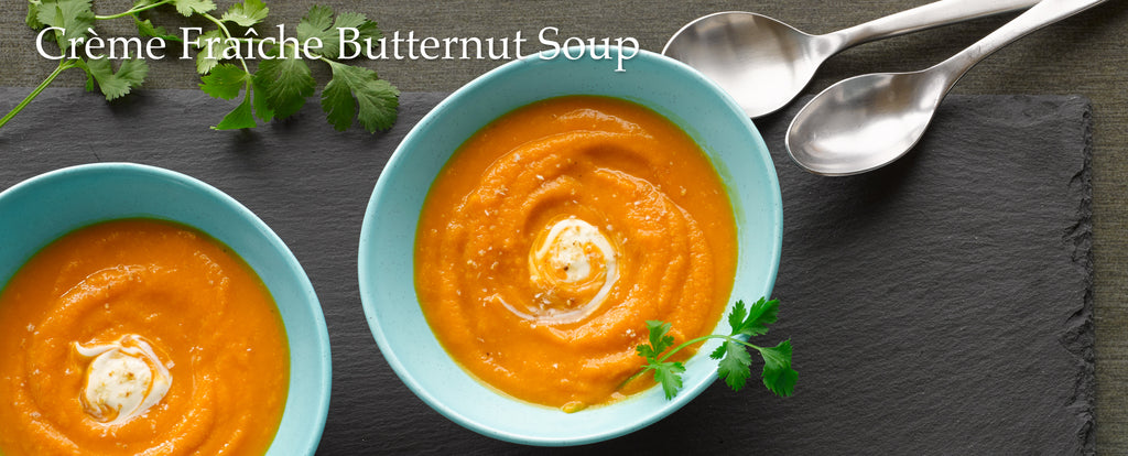 Salinity™ Salt Recipes: Crème Fraîche Butternut Soup
