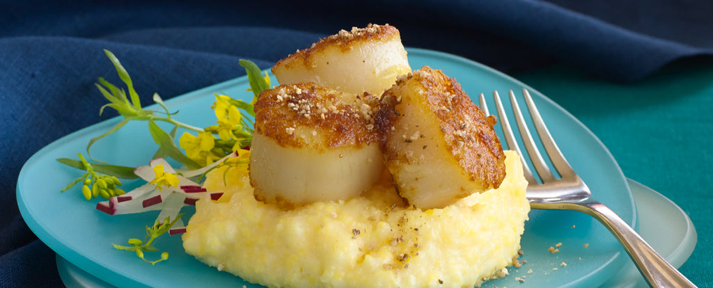 Salinity™ Salts: Seared Scallops on Polenta Recipe