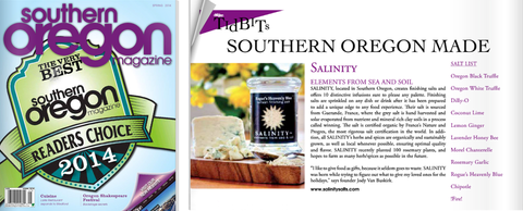 Salinity™ Salts featured in Southern Oregon Magazine