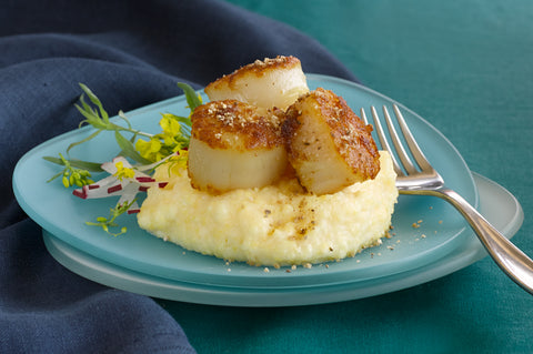 Seared Scallops on Polenta Recipe