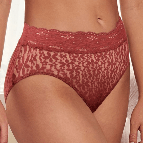 Halo Lace Hi-Cut Brief 870305 Red Pear