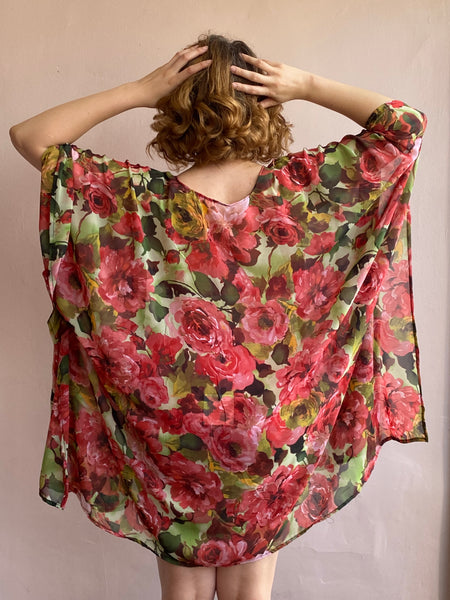 With Love Robe Floral Chiffon
