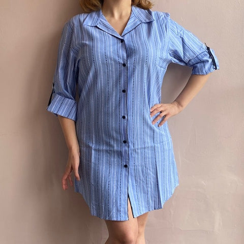 Josie Nightshirt C-3550 Blue Stripe