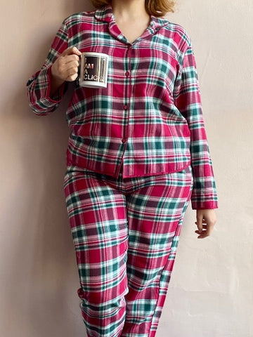 Holly Checks PJs C-3854/5 Red