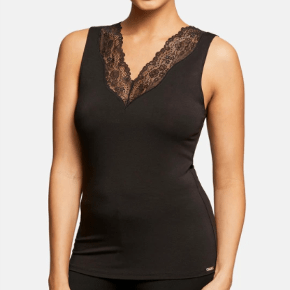 Body Bliss 9400 V-neck Tank Top Black