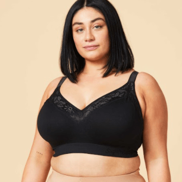 Sugar Candy Luxe Seamless Wirefree 28-8006 Black