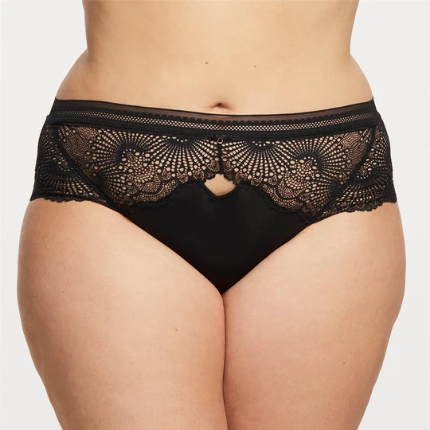 Femme Fatale High Waist Brief 9449 Black/Mauve