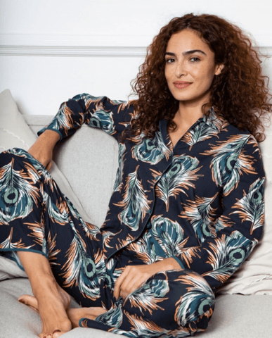 Elena PJs C-4565/6 Peacock Feather
