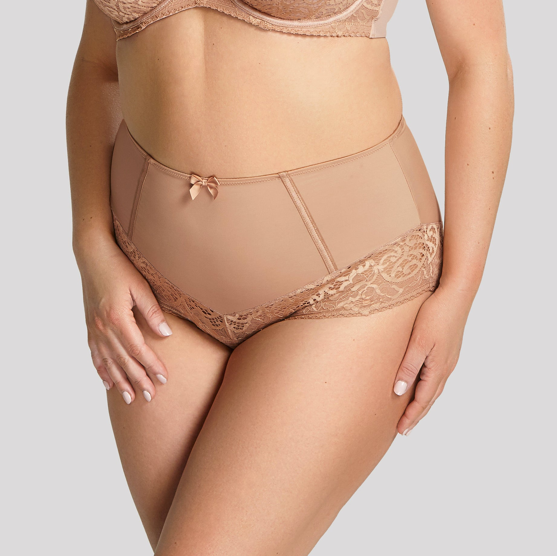 Estel High Waist Brief 9684 Honey