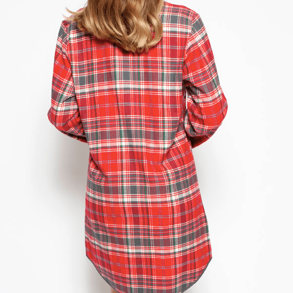 Belle Plaid Nightshirt C-4256 Red