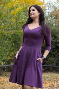 Bermuda Dress 3/4 Sleeve Su-026 Plum