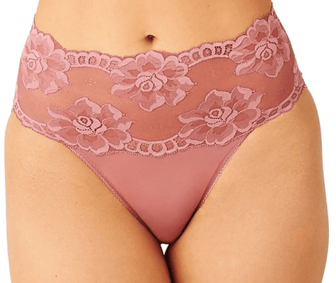 Light and Lacy Hi Cut Brief 879363 Mesa Rose