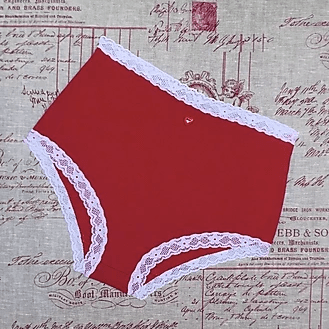 Lillian High Brief Red