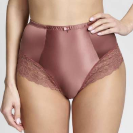 Quinn High Waist Brief 9245 Rose Gold