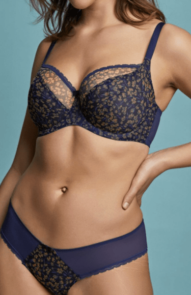 Zoe Brief 10212 Navy Floral