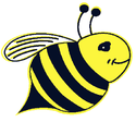 Just Bee Happy Single Bee Logo