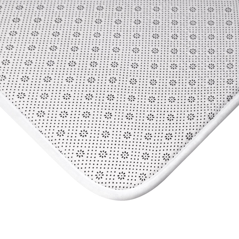 White Bath Mat - JBH Multi-Color