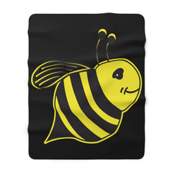Black - Sherpa Fleece Blanket - Bee