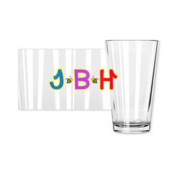 Pint Glasses - JBH Multicolor Bee