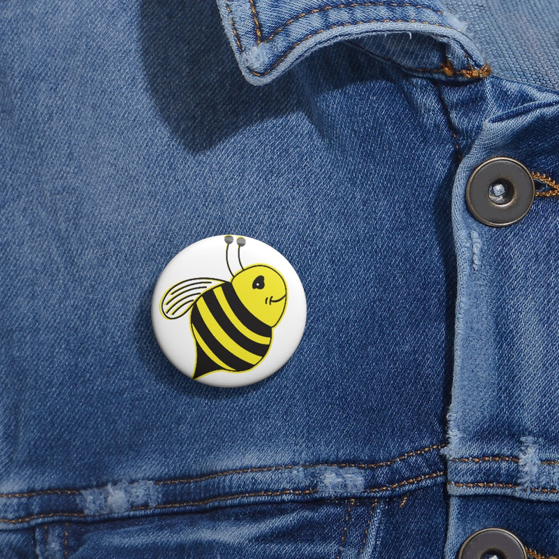 Custom Pin Buttons - Bee