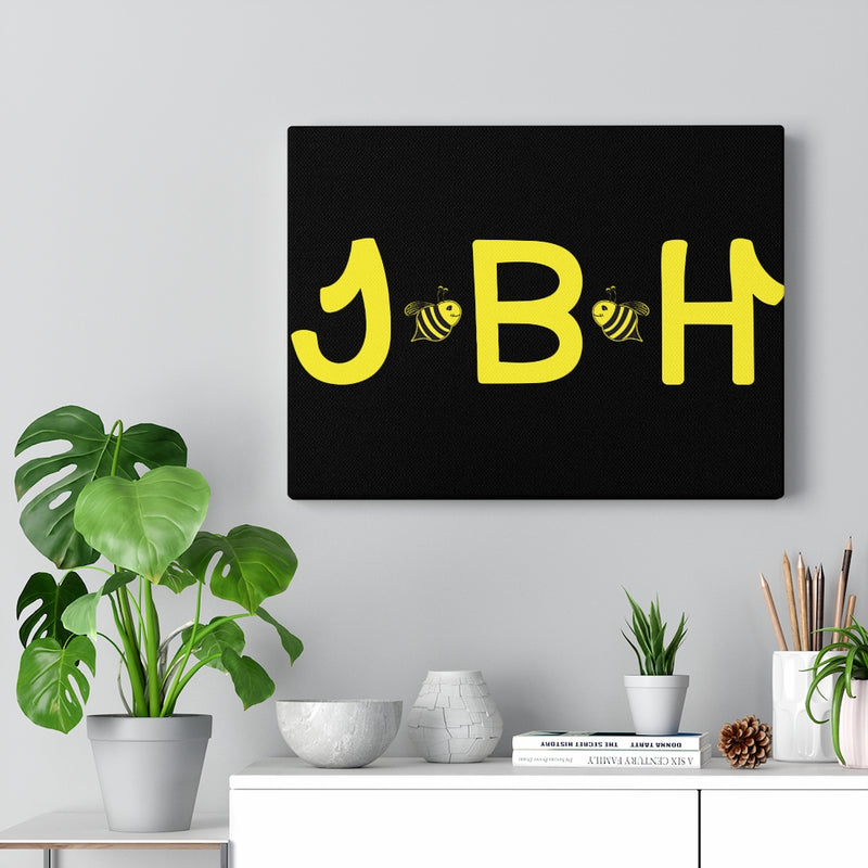 Black Canvas Gallery Wraps - JBH Yellow
