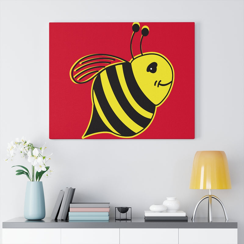 Red Canvas Gallery Wraps - Bee